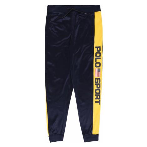 Polo Ralph Lauren Kalhoty 'TRACK' námořnická modř / žlutá / červená / bílá