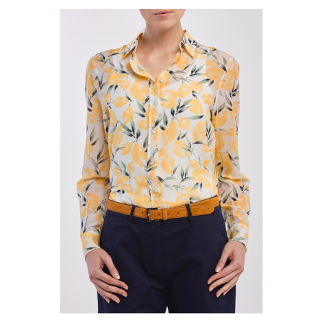 KOŠILE GANT D2. LEMON COTTON SILK SHIRT