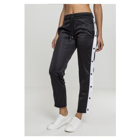 Ladies Button Up Track Pants - black/white/black Urban Classics
