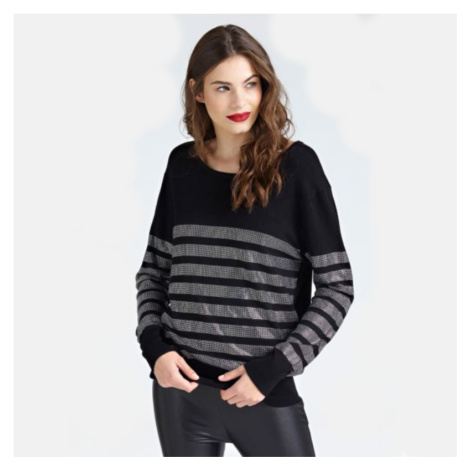 Guess dámský černý svetr s kamínky