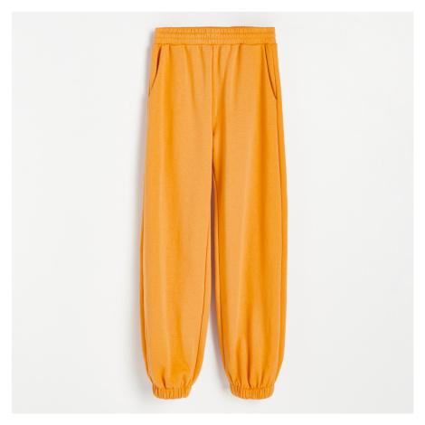 Reserved - Kalhoty z teplákoviny - Oranžová