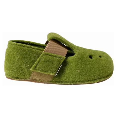 bačkory Pegres BF04 zelená filcové