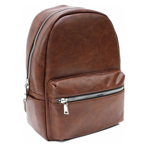 Hnědý pánský zipový batoh Clive Mahel