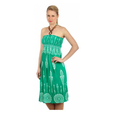 Vzorované letní šaty za krk