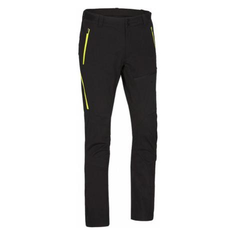 NORTHFINDER RODREGO Pánské softshellové kalhoty NO-3552SNW273 černo-zelená