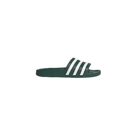 Zelené plážové pantofle Adidas Adilette Aqua