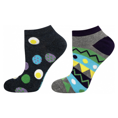Pánské kotníkové ponožky Soxo Good Stuff 3127 A'2 šedá-jean