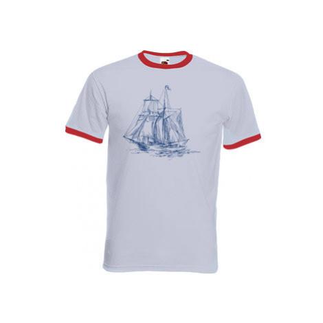 Pánské tričko s kontrastními lemy plachetnice