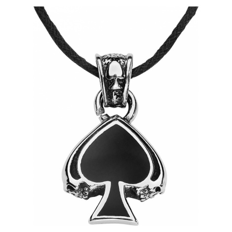 etNox hard and heavy Black Spade Náhrdelník - řetízek stríbrná