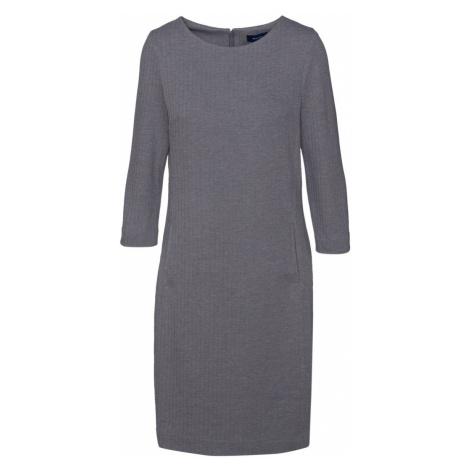 ŠATY GANT HERRINGBONE JERSEY SHIFT DRESS