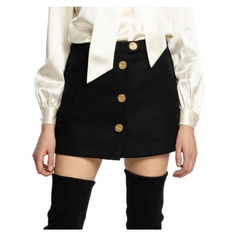 Černá vlněná kalhotová sukně - RED VALENTINO