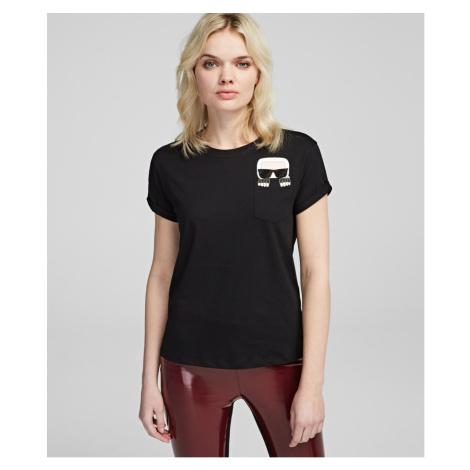 Tričko Karl Lagerfeld Ikonik Karl Pocket T-Shirt - Černá