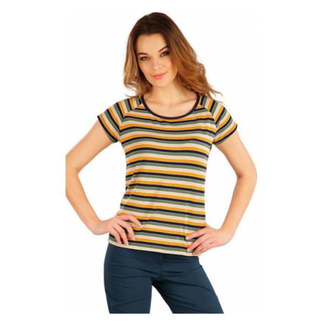 Dámské tričko s krátkým rukávem Litex 5A062 | pruhy