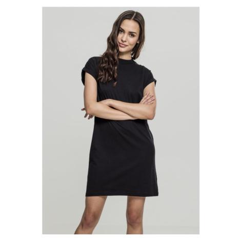 Ladies Turtle Extended Shoulder Dress - black Urban Classics