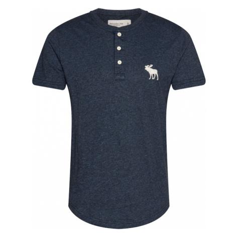 Abercrombie & Fitch Tričko námořnická modř / bílá