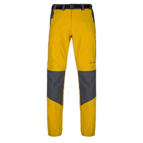 Pánské outdoorové kalhoty KILPI HOSIO-M žlutá