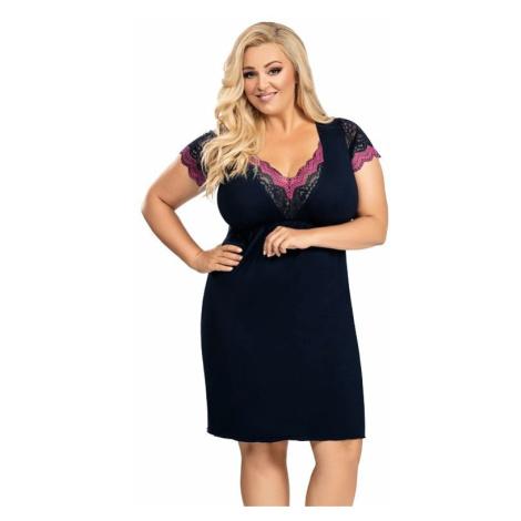Košilka plus size Nina tmavě modrá Donna