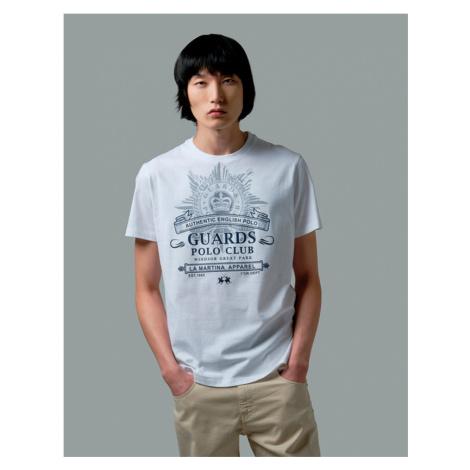 Tričko La Martina Man T-Shirt Short Sleeves Jers - Bílá