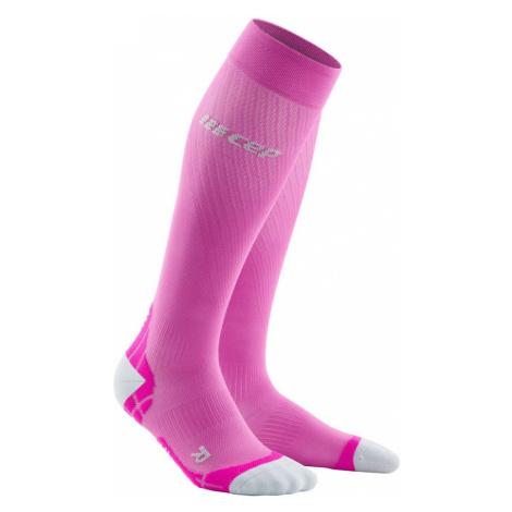 Dámské Běžecké Kompresní Podkolenky Cep Ultralight Růžová