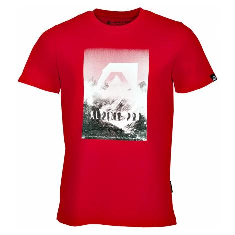Pánské triko Alpine Pro ABIC 4 - červená