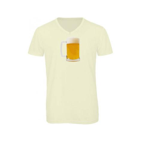Pánské triko s výstřihem do V Pivko