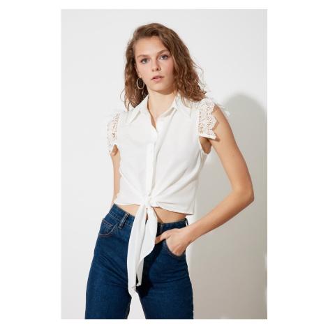 Trendyol Ecru Shoulder Detail Shirt