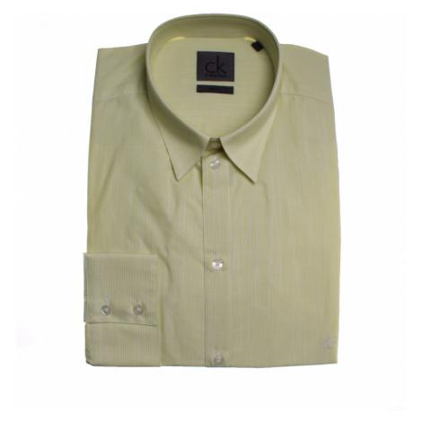 Calvin Klein Calvin Klein pánská zelená košile s nenápadnými proužky