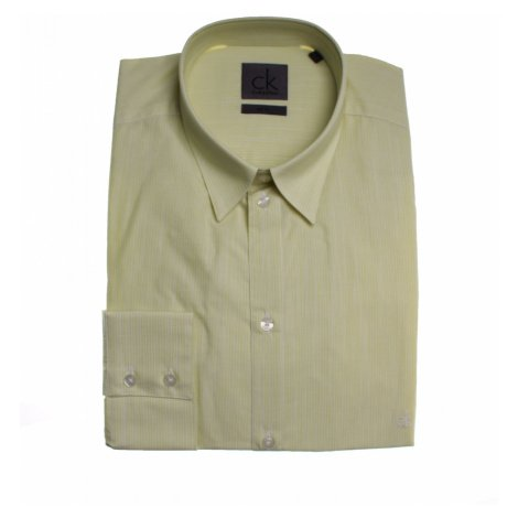 Calvin Klein pánská zelená košile s nenápadnými proužky