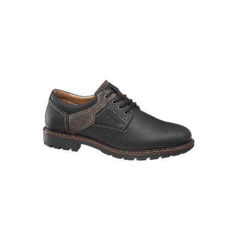 Černé kožené polobotky AM Shoe