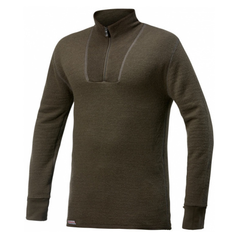 Merino mikina WOOLPOWER Zip Turtleneck 400g UNISEX - Pine Green