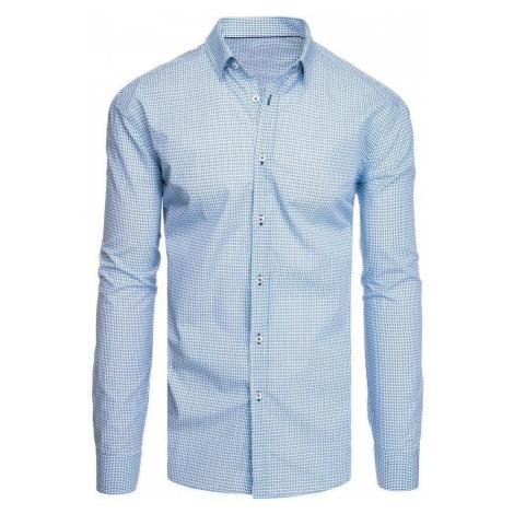 Dstreet Bílá vzorovaná košile s dlouhým rukávem