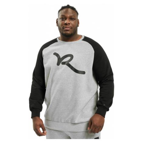 Rocawear mikina pánská Jumper Big Raglan in grey nadměrná velikost