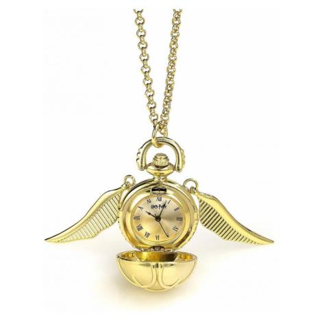 Náhrdelník s hodinkami Harry Potter - Zlatonka