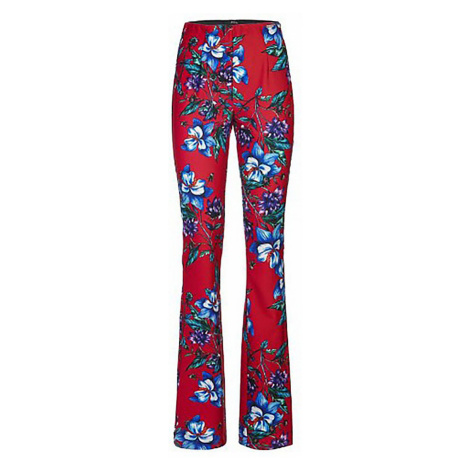 Květované kalhoty s vysokým pasem GUESS
