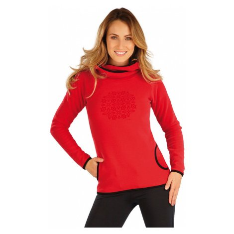 LITEX Fleecová mikina dámská s kapucí 7A281306 červená