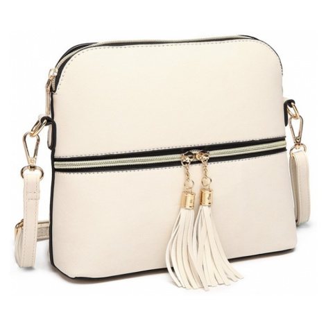 Béžová dámská moderní crossbody kabelka Palma Lulu Bags