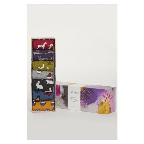 Vícebarevné ponožky v dárkové krabičce Fauna Sock Pack - sedm balení