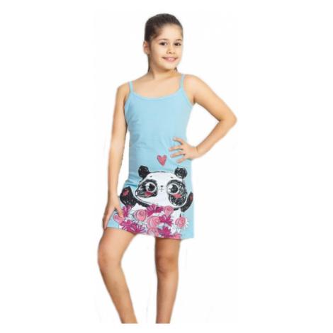 Dětská noční košile na ramínka Vienetta Secret Panda | světle modrá