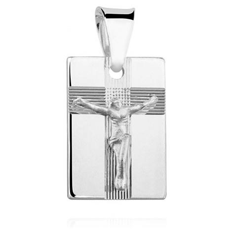 OLIVIE Stříbrný přívěsek JEŽÍŠ NA KŘÍŽI 1645