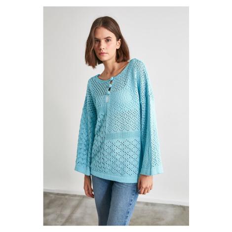 Trendyol Blue Knitted Knitwear Sweater