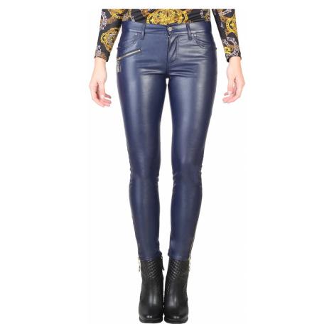 Tmavě modré kožené kalhoty - VERSACE JEANS