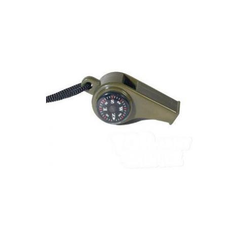 Survival píšťalka s kompasem a teploměrem Mil-Tec® - oliv Mil-Tec(Sturm Handels)