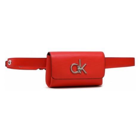 Calvin Klein Calvin Klein dámská červená ledvinka BELTBAG EYELETS