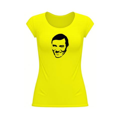 Dámské tričko velký výstřih Karel Gott