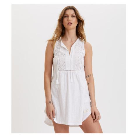 Šaty Odd Molly Artful Dress - Bílá