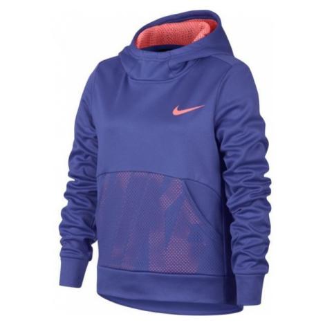 Nike NK THERMA HOODIE PO ENERGY fialová - Dívčí sportovní mikina