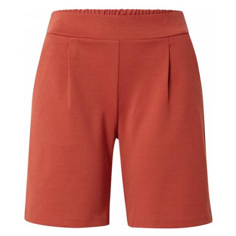 ICHI Chino kalhoty rezavě červená