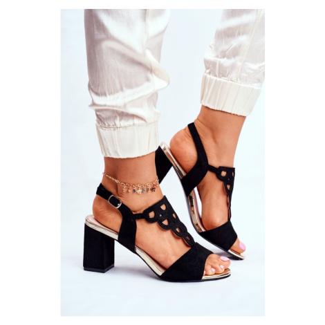 Women's Sandals Eco-Suede Black Vision Kesi