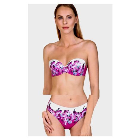 Dámské plavky LISCA Egina 40485+41437 korzetové | růžová