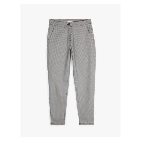 GATE Elastické kalhoty se vzorem kohoutí stopy